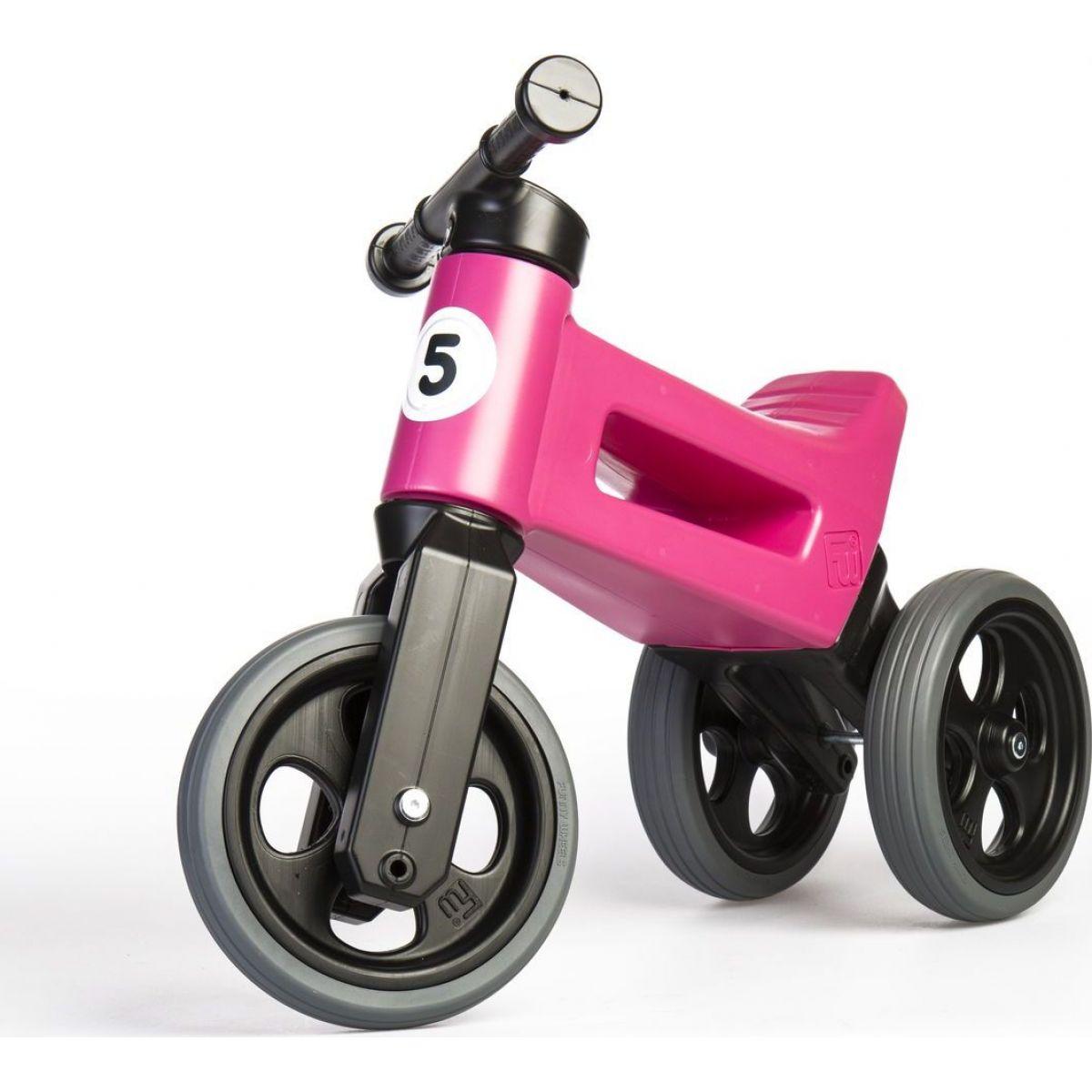Odrážedlo růžové Funny Wheels 2 v 1