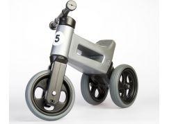Odrážedlo šedá Funny Wheels 2 v 1