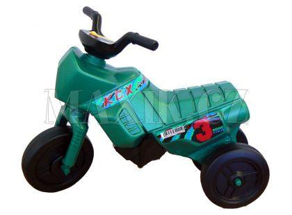 Odrážedlo motorka Enduro menší 150 - Zelená tmavá