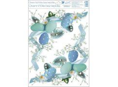 Okenní fólie 2 věnečky 2 rohové 30x42 cm modrá