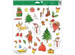 Okenní fólie 30 x 33,5 cm vánoční motivy Krabice dárků