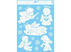 Okenní fólie 42 x 30 cm andělé Spící andílek