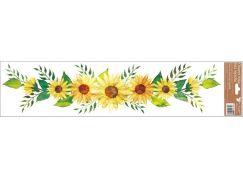 Okenní fólie pruhy 64 x 15 cm slunečnice