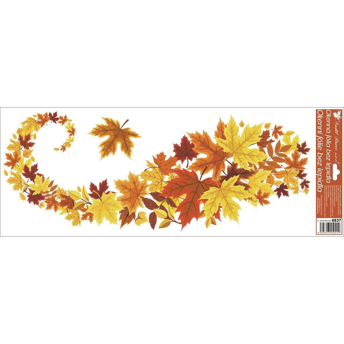 Okenní fólie pruhy listí 60 x 22 cm varianta 4.