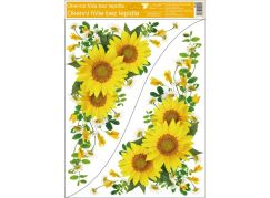 Okenní fólie rohová 30 x 42 cm slunečnice