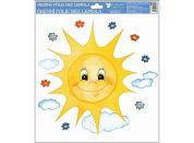 Okenní fólie ručně malovaná sluníčka 30x30 cm sluníčko s úsměvem
