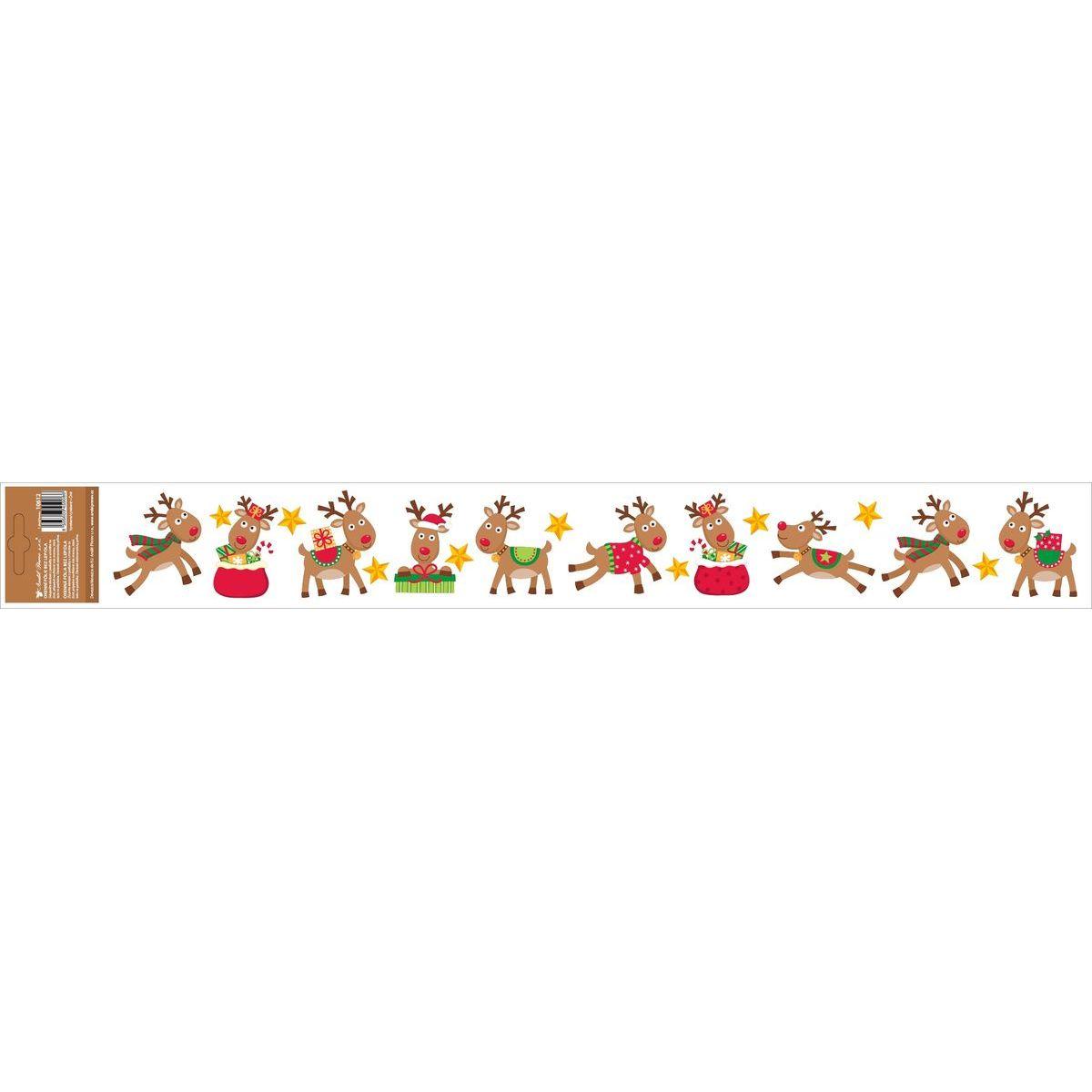 Okenní fólie s glitry pruh s dětskými motivy 59 x 7 cm Soby