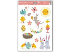 Okenní fólie Veselé Velikonoce 33,5 x 26 cm obrázek 1