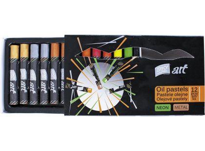 Olejové pastely Neon Metal 12 ks
