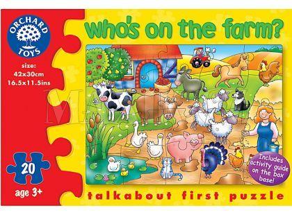 Orchard Toys Puzzle Kdo žije  na farmě? 20dílků