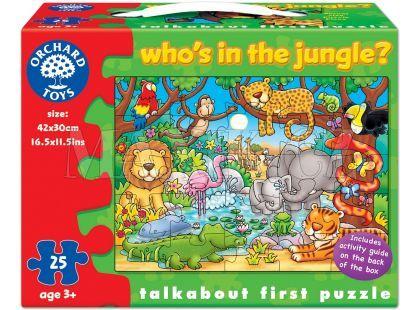 Orchard Toys Puzzle Kdo žije v džungli? 25dílků