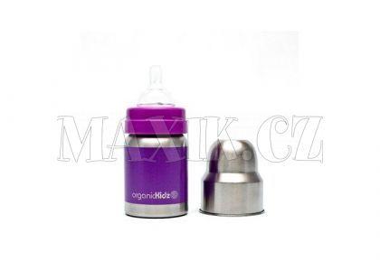 OrganicKidz Láhev široká fialová 120ml
