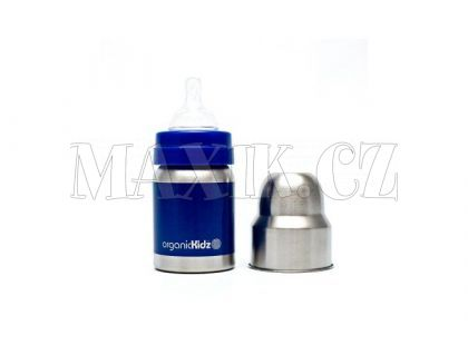 OrganicKidz Láhev široká modrá 120ml