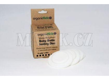 OrganicKidz Uzávěry pro širokou láhev 4ks