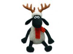 Ovečka Shaun s parohy a šálou 25 cm