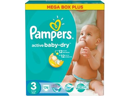 Pampers Active Baby 3 Midi 174ks