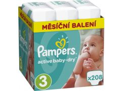 Pampers Active Baby 3 Midi 208ks