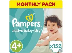Pampers Active Baby 4+ Maxi 152ks