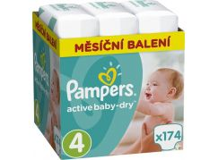 Pampers Active Baby 4 Maxi 174ks