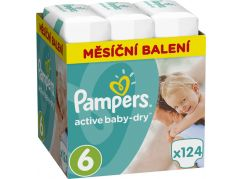 Pampers Active Baby Monthly Box S6 124ks