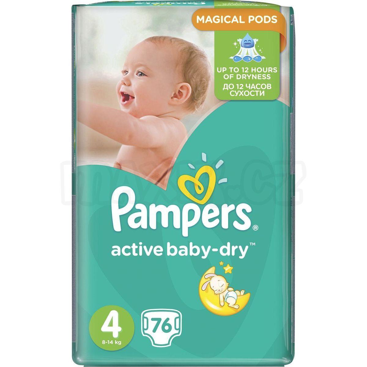 Pampers Active Baby Dry 4 Maxi 76ks Max 237 Kovy Hračky