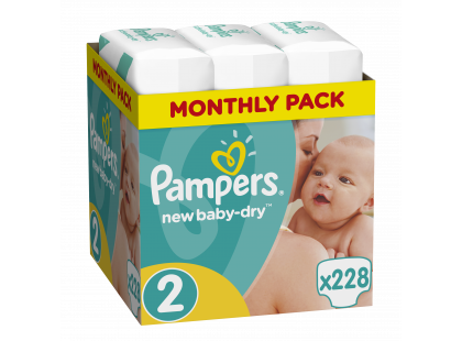 Pampers Active Baby Monthly Box S2 228 ks