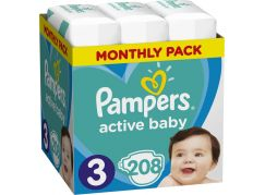 Pampers Active Baby Monthly Box S3 208ks