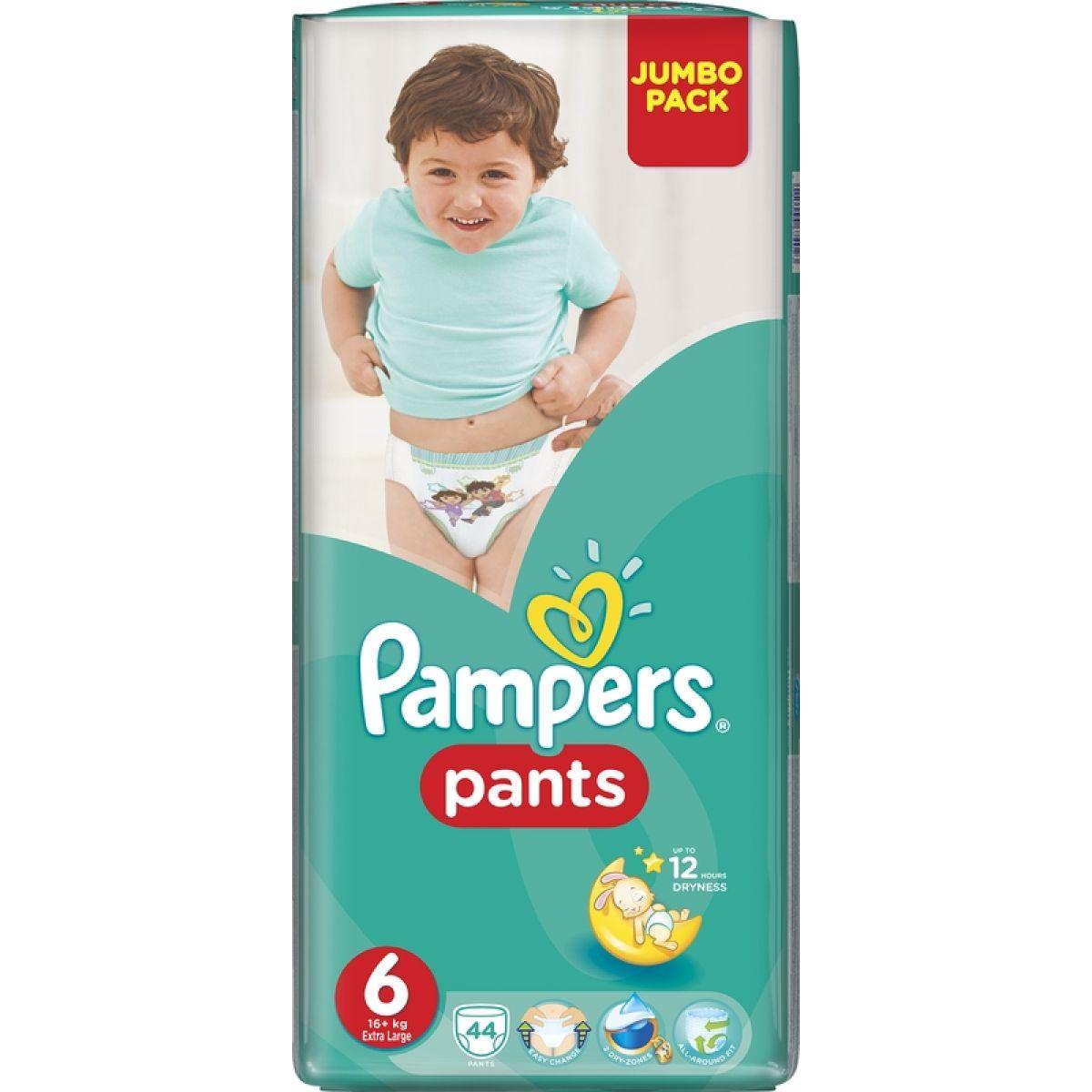 Pampers Kalhotkové plenky Jumbo Pack 6 Extra Large 44ks