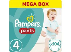 Pampers Plenkové kalhotky Mega Box 4 Maxi 104ks