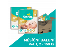 Pampers Premium Care 1 Newborn + Premium Care 2 mini 168ks