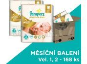Pampers Premium Care 1+2 168ks