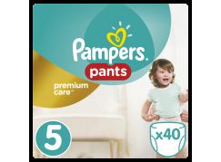Pampers Premium kalhotkové plenky Value Pack S5 40ks