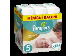 Pampers Premium Care 5 Junior 11-18 kg 136ks