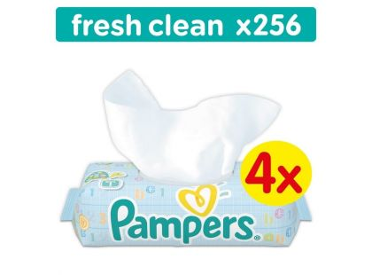 Pampers Ubrousky Baby Fresh Clean 4x64ks