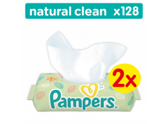 Pampers ubrousky Natural Clean 2x64ks