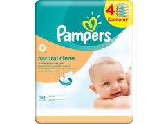 Pampers Ubrousky Natural Clean 4x64ks