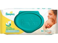 Pampers Ubrousky Sensitive New Baby 54ks
