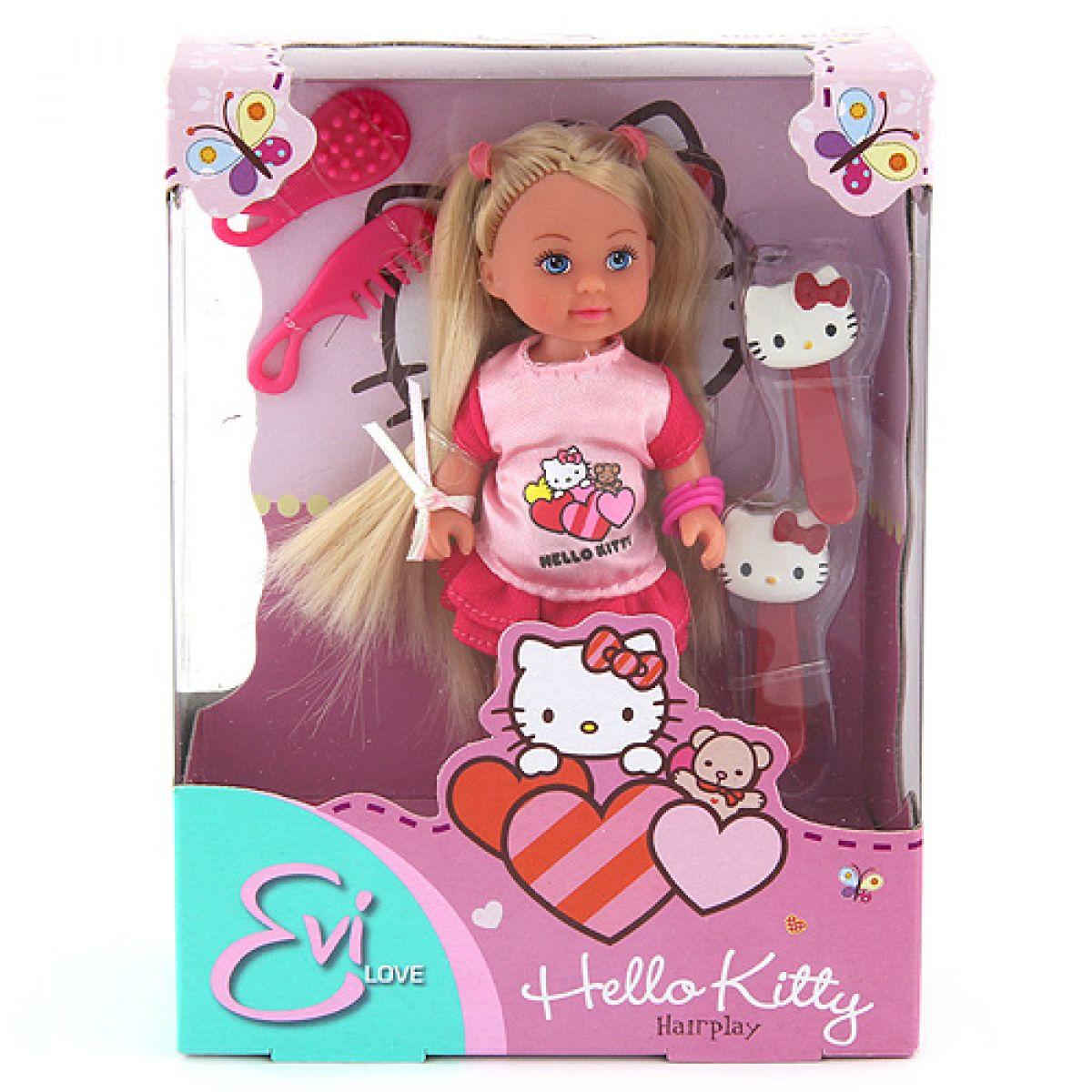 Panenka Evička Hello Kitty Hairplay červené spony
