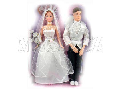 Panenka nevěsta kloubová se ženichem - bílé sako