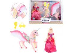 Panenka princezna a jednorožec s křídly