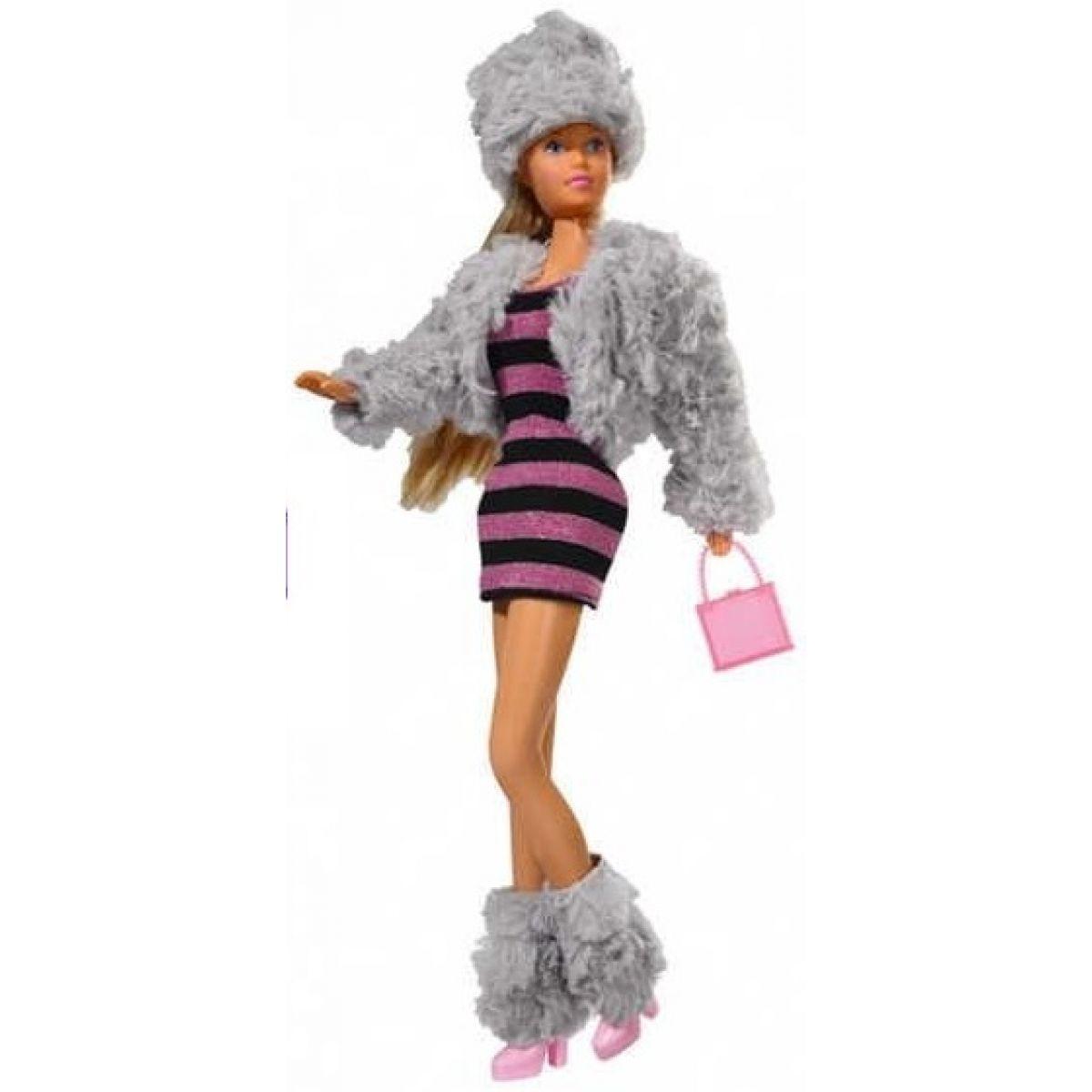 Panenka Steffi Snow Party Pruhované šaty