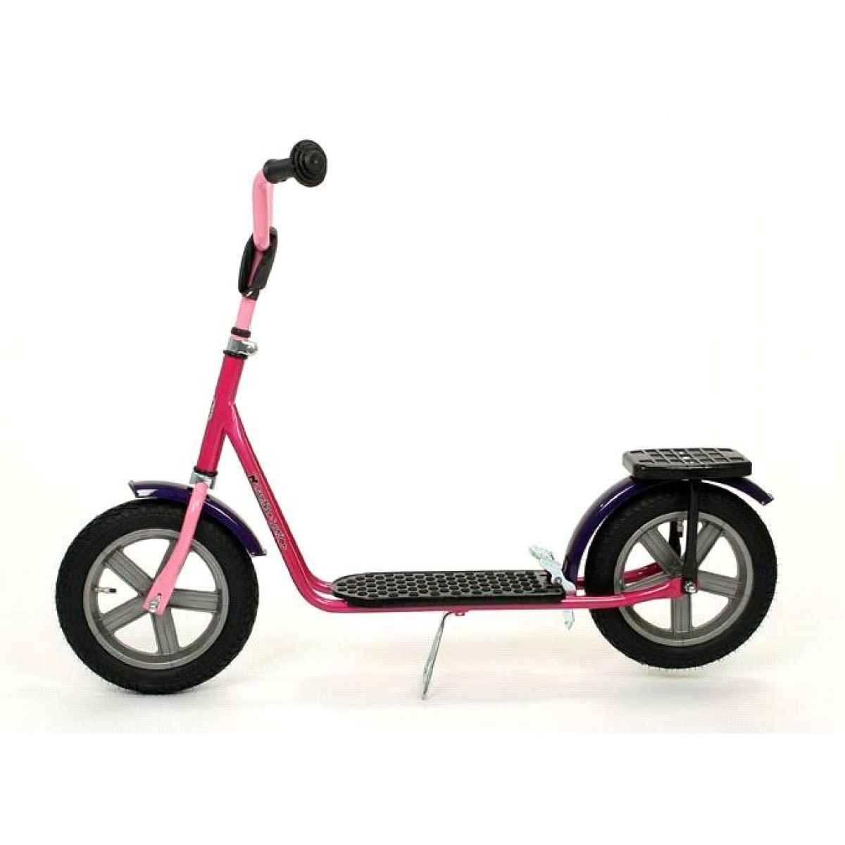 Panther Junior Koloběžka TRIXX 12 RADIANT - šedý PVC ráfek, Rose pink