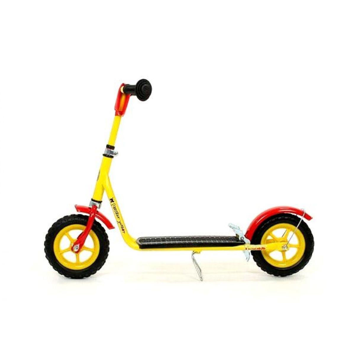 Panther Junior Koloběžka TRIXX 8 Speciál - žlutý PVC ráfek-žlutá