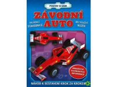 Papírová skládanka Závodní auto postav si sám