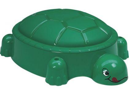 Paradiso Pískoviště želva tmavě zelené s víkem