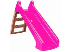 Paradiso Toys Skluzavka malá 104 cm růžová skluzná plocha