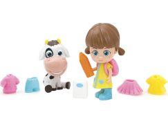 Paula & Friends panenka s doplňky a zvířátkem kravička