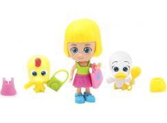 Paula & Friends panenka s doplňky a zvířátkem žlutá a bílá kačenky