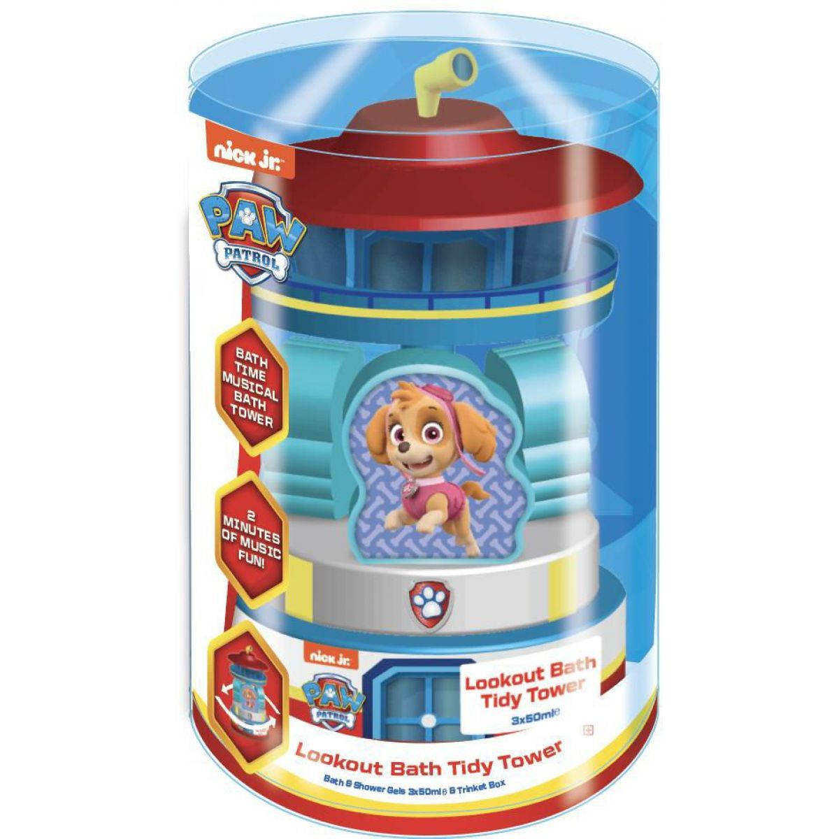 Paw Patrol 3 x 50 ml sprchový a koupelový gel s vyhlídkovou věží