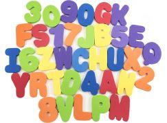 Pěnová písmena a číslice vodolepky 8cm